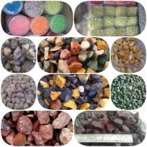 فروش سنگ رنگی شن رنگی رودخانه ای و قلوه ای